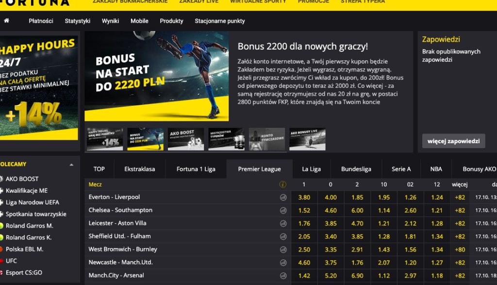 Strona internetowa eFortuna.pl