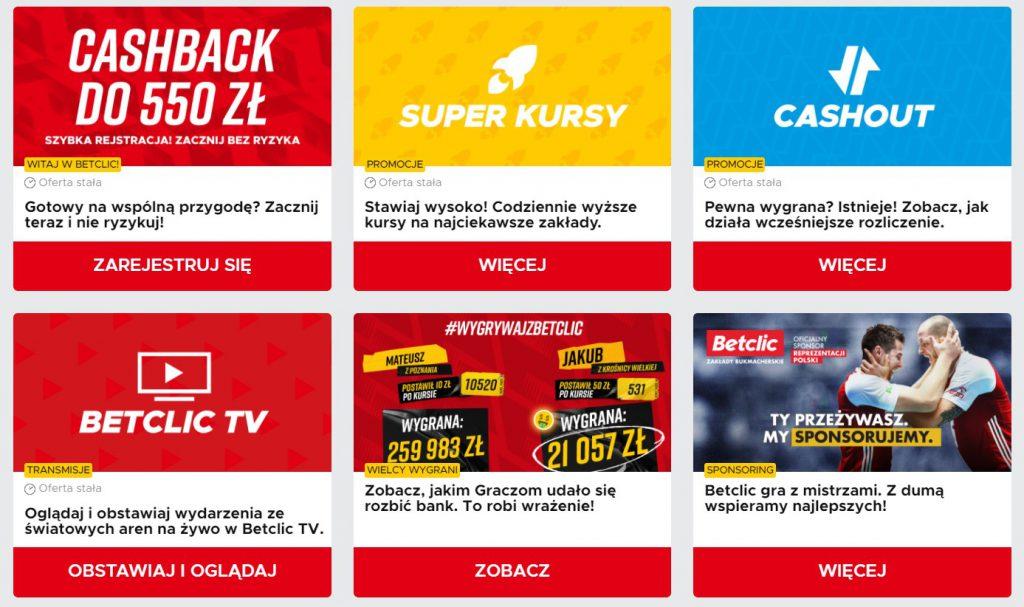 Betclic Polska promocje i bonusy