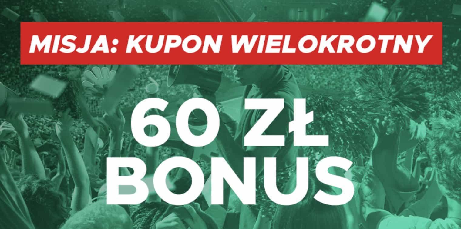 Bonus 60 PLN od Betclic. Stawiasz zakłady wielokrotne - masz EKSTRA kasę!