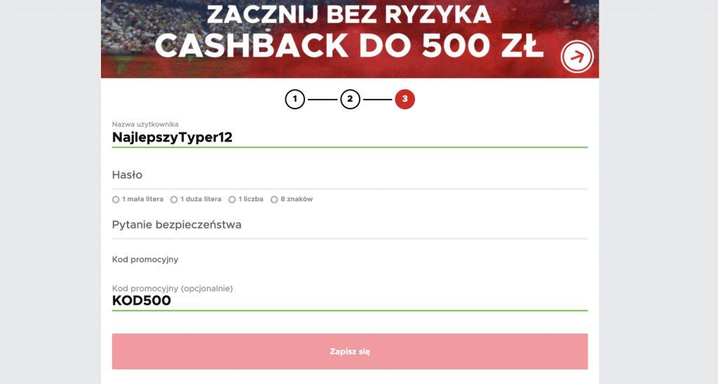 """Betclic aktywny kod promocyjny. """"KOD500"""" daje 500 PLN!"""