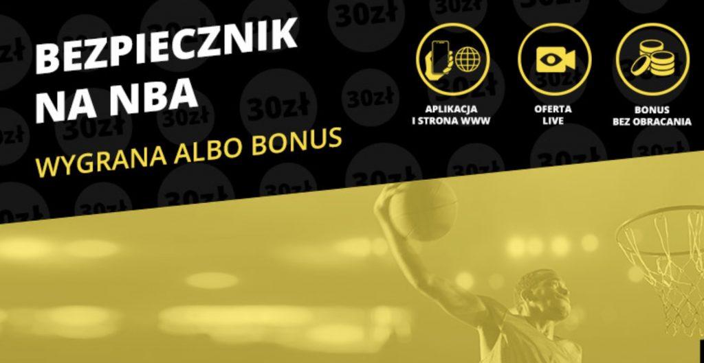 Fortuna daje 30 PLN na mecze NBA!