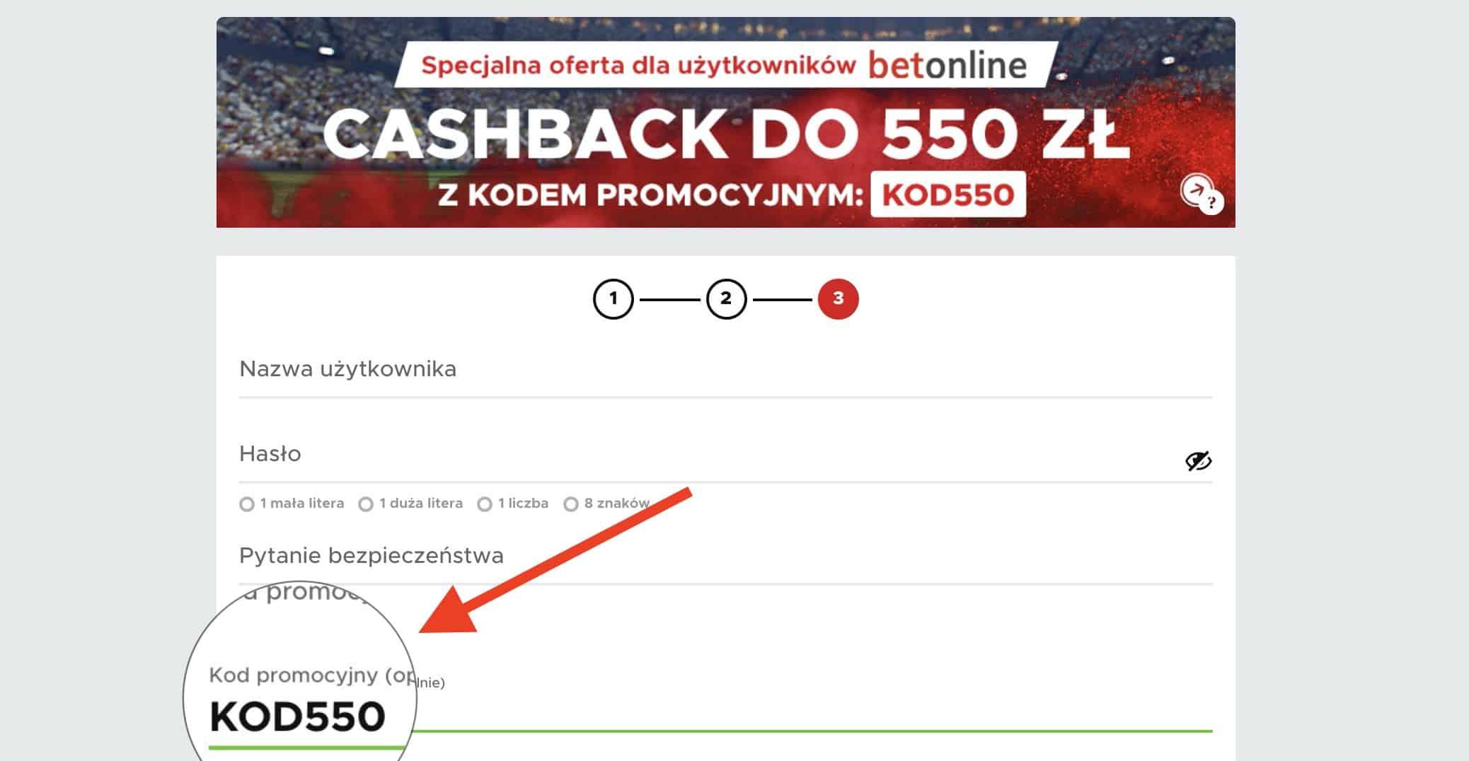 Betclic cashback 2020. Kod promocyjny KOD550! Największy zwrot w Polsce - aż 550 złotych.