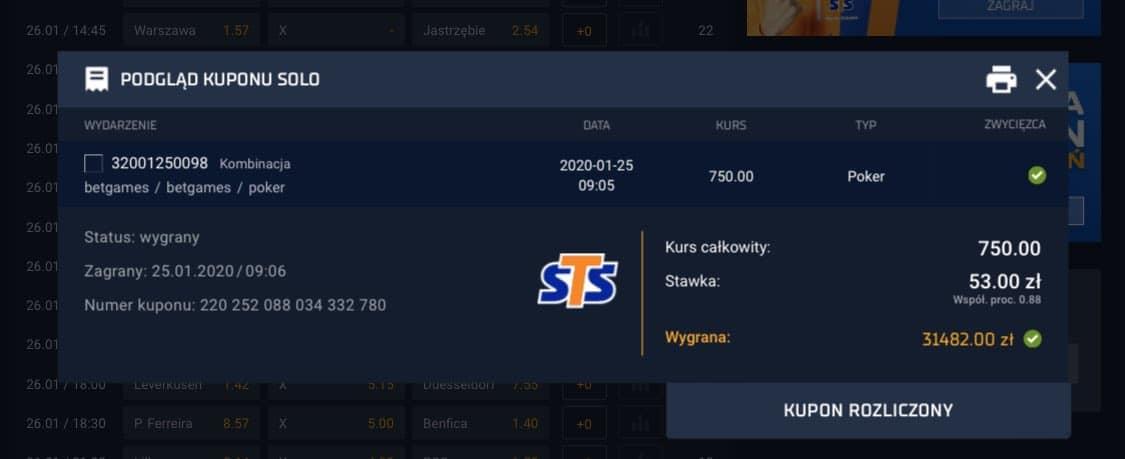 wysoka wygrana w betgames sts