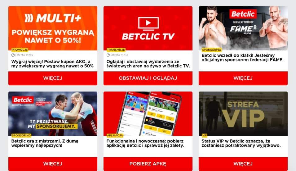 Promocje bukmacherskie w Betclic Polska